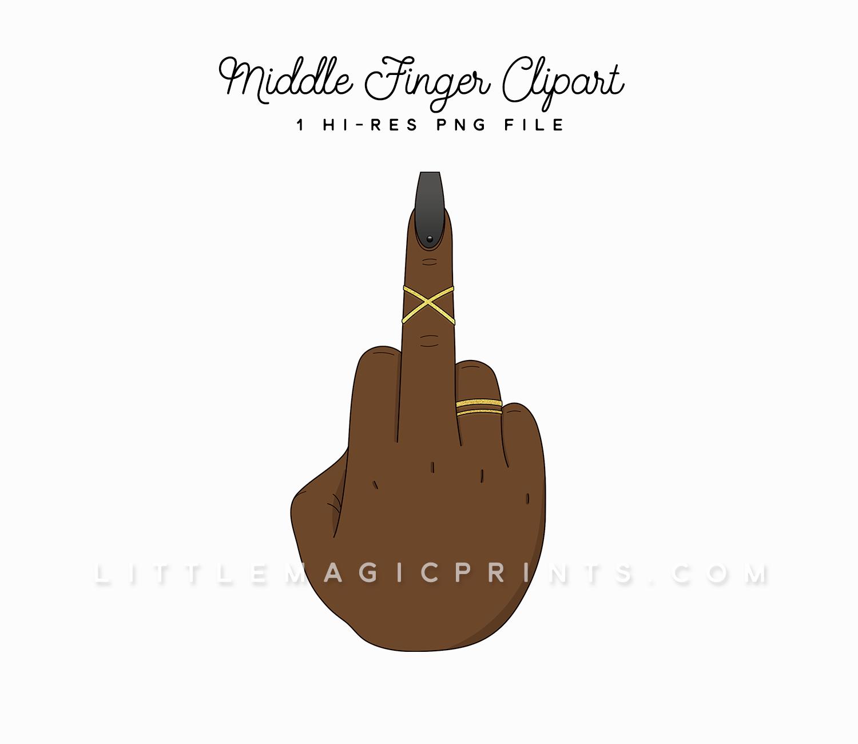 middle finger clipart dark skin tone little magic prints rh littlemagicprints com middle finger clip art pics middle finger clip art pics