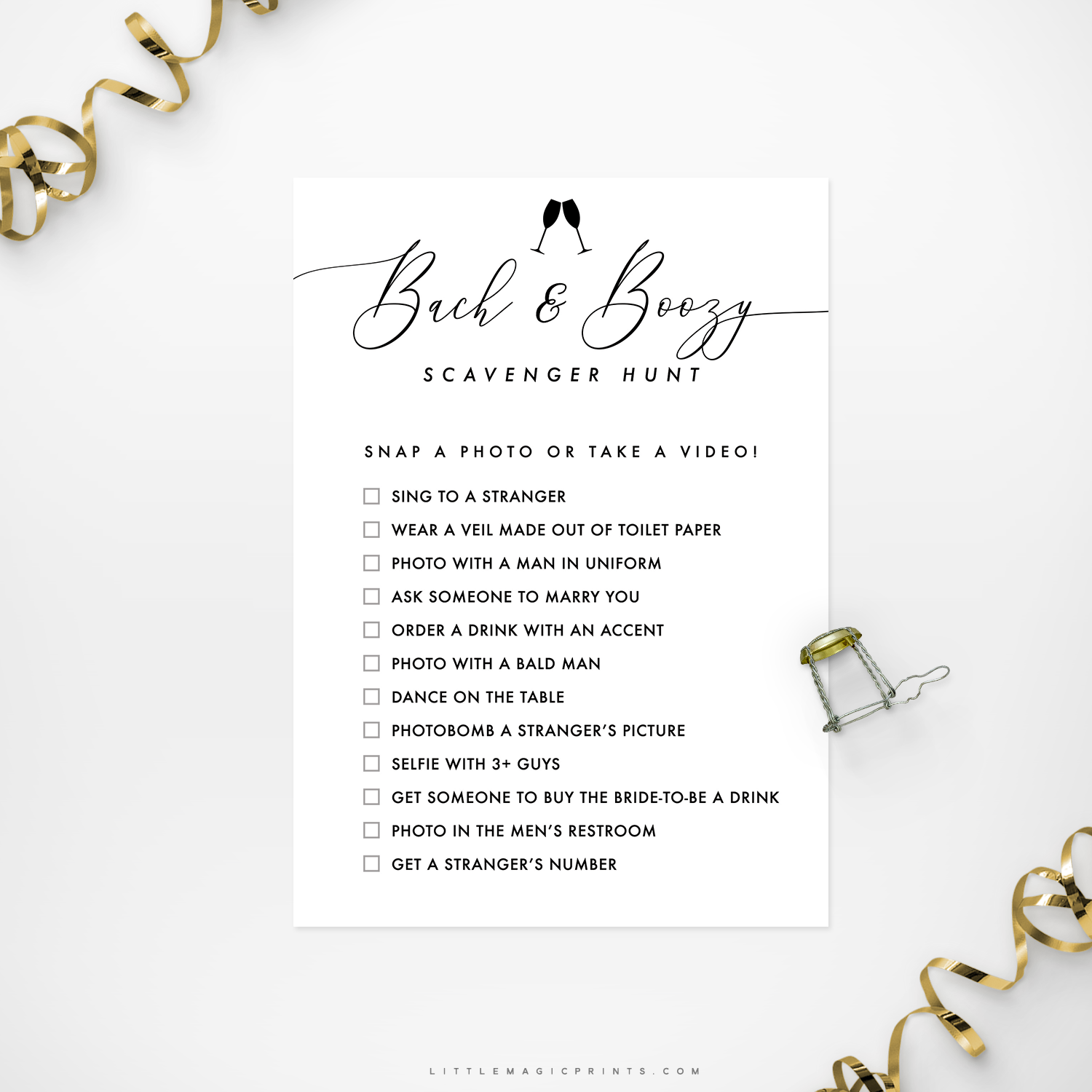 picture about Printable Bachelorette Scavenger Hunt known as Printable Bach Boozy Bachelorette Scavenger Hunt Video game