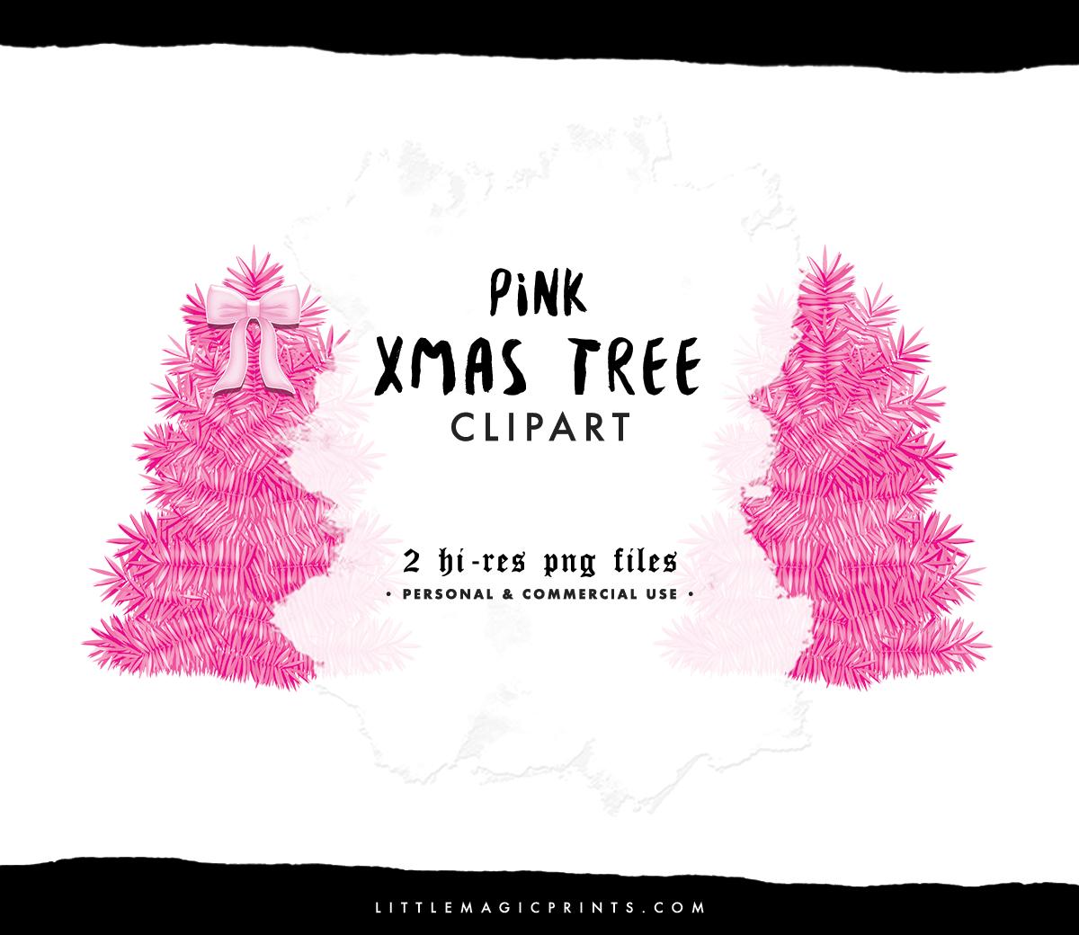 Pink Christmas Tree Set