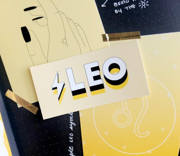 Leo Block Glossy Sticker